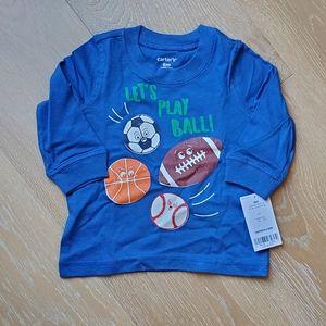 Carter's long sleeve top sports ⚽️🏀🏈⚾️ blue